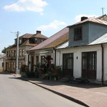 Zdj. nr 1;Janowiec - budynki wykonane z kamienia wapiennego