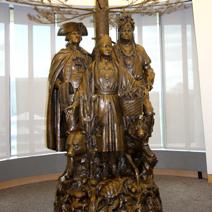 Zdj. nr 101;Pomnik przed muzeum Indian
