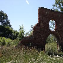 Zdj. nr 11;Ruiny stajni i baszty