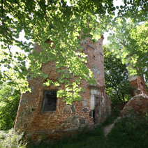 Zdj. nr 14;Ruiny stajni i baszty