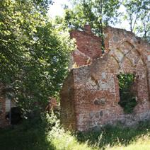 Zdj. nr 15;Ruiny stajni i baszty