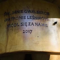 Zdj. nr 17;Kapliczka Św. Jana Gwalberta w Nadleśnictwie Janów Lubelski