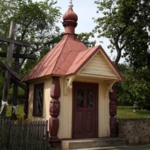 Zdj. nr 30;Kapliczka i krzyże w Białowieży
