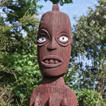 Zdj. nr 174;Rzeźba maoryska
