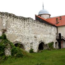 Zdj. nr 13;Fragment wielkiego zamku w Janowcu odbudowana