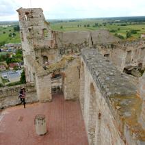 Zdj. nr 16;Ruiny zamku w Janowcu