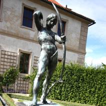 Zdj. nr 233;Rzeźba w ogrodzie Waldsteina w Pradze.