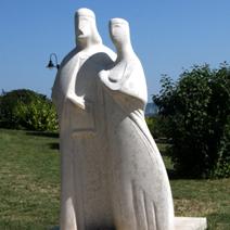 Zdj. nr 307;Rzeźba nad Balatonem w Tihanach.