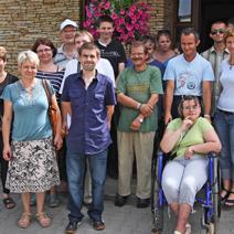 Uczestnicy wycieczki Ośrodka Pomocy Społecznej w Końskowoli