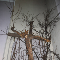 """Zdj. nr 31;""""Ukrzyżowanie"""" w kościele w Białowieży"""