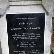 Zdj. nr 7;Grób Świętego Zygmunta Gorazdowskiego