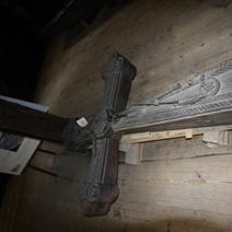 Zdj. nr 63;Krzyż przydrożny przekazany przez Kawków Teofila i Helenę z domu Kurowskich z Leokadiowa w muzeum w Janowcu
