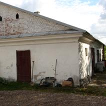 Zdj. nr 6;Budynek gospodarczy przy dworze Tęczyńskich