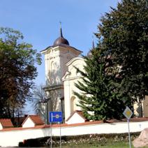 Zdj. nr 1;Kościół parafialny p.w. Znalezienia Św. Krzyża i Św. Andrzeja w stylu barokowym