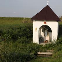 Zdj. nr 77;Kapliczka wśród pól w Koloni Kryłów