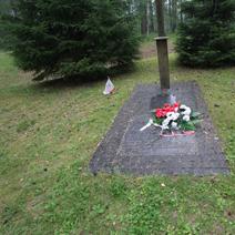 Zdj. nr 19;Las - zbiorowe groby pomordowanych Polaków.