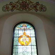 Zdj. nr 18;Witraż Św. Jana Pawła II
