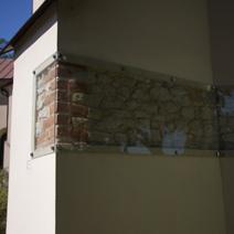 Zdj. nr 42;Fragment średniowiecznego muru