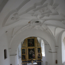 Zdj. nr 7;Kościół pw. św. Anny - Nawa główna i prezbiterium- widok z góry