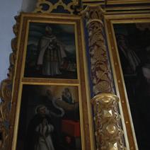 Zdj. nr 10;Ołtarz - św. Wojciech, św. Jacek Odrowąż