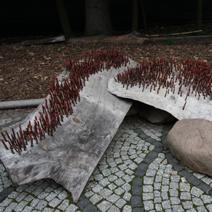 Zdj. nr 86;Rzeźby wiklinowe w Bolestraszycach