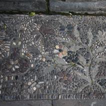 Zdj. nr 109;Mozaika chodnikowa z kamieni