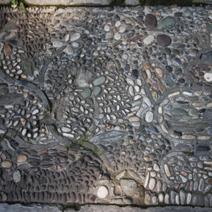 Zdj. nr 112;Mozaika chodnikowa z kamieni