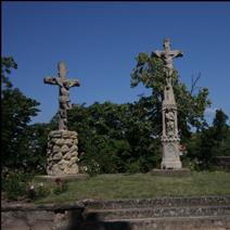 """Zdj. nr 110;""""Ukrzyżowanie""""- przy kościele Benedyktynów w Tihanach - Węgry"""