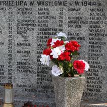 Zdj. nr 93;Pomnik w hołdzie pomordowanym przez UPA w Wasylowie