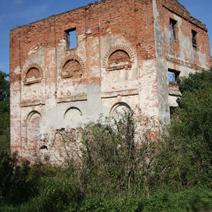 Zdj. nr 3;Ruiny papierni, młynów i części mieszkalnej Czartoryskich, później Kleniewskich, nad rzeką Bystrą