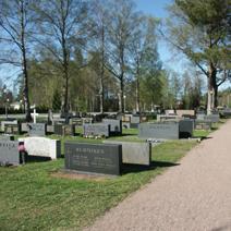 Zdj. nr 27;Cmentarz w Finlandii